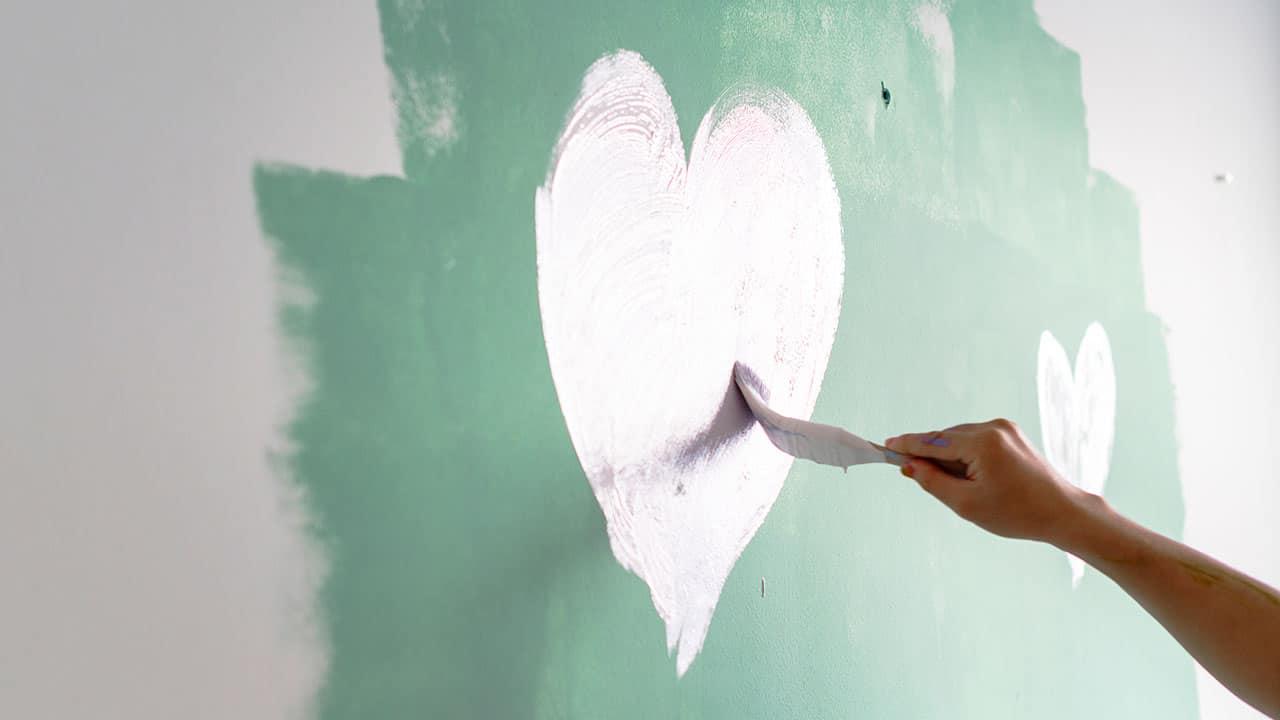 vẽ tranh tường mầm non bằng cả trái tim