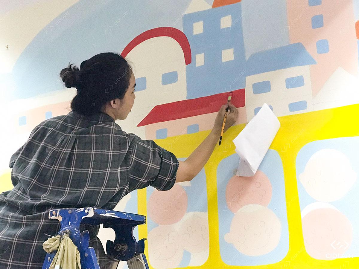 Hoạ sĩ vẽ tranh tường