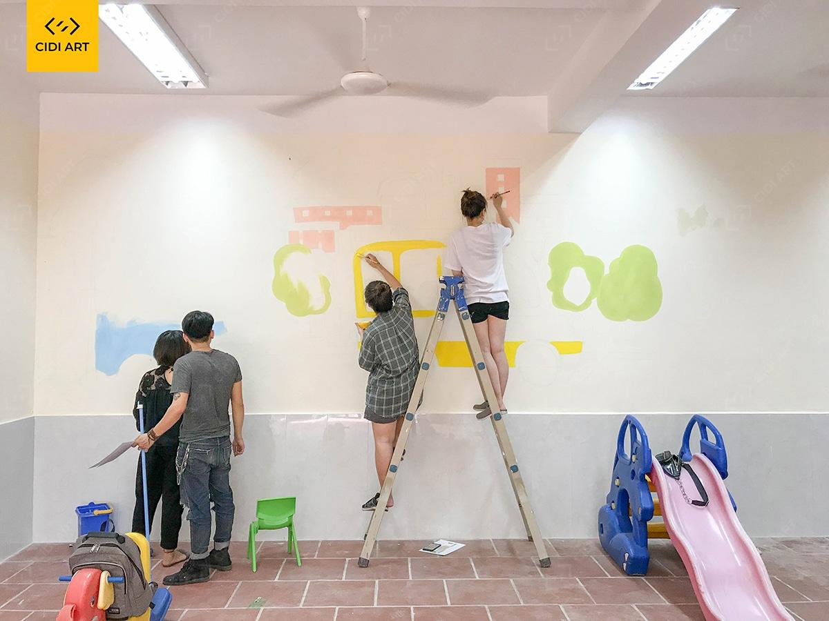 Hoạ sĩ vẽ tranh tường mầm non tại hà nội