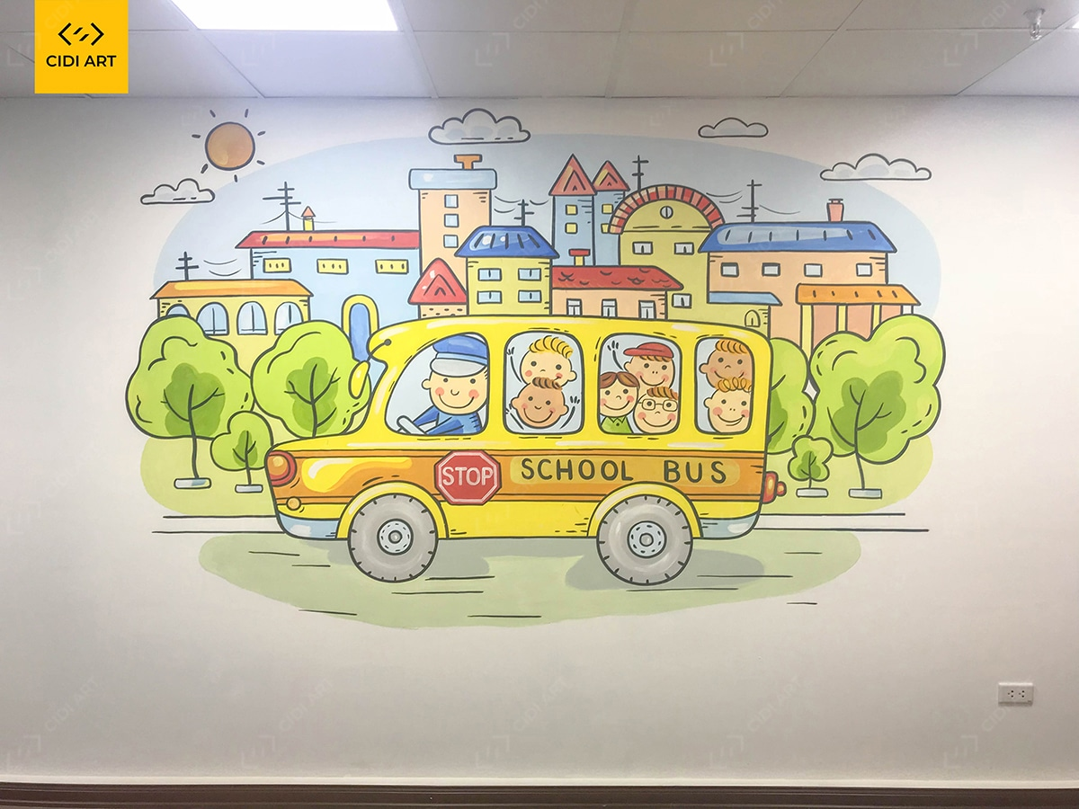 Vẽ tranh tường mầm non tại hà nội