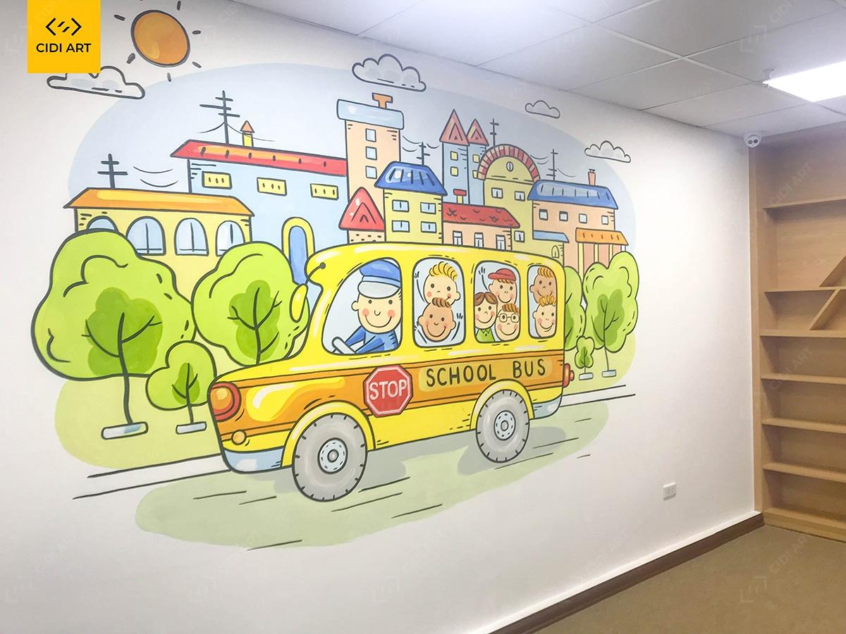 Vẽ tranh tường mầm non - cidiart